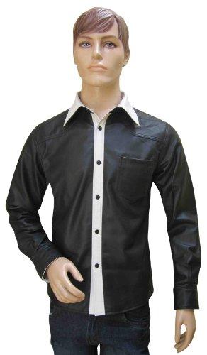 Conçu sur mesure en cuir – Couleur en cuir pour homme avec poche avant – Mouton Nappa - - Multicolore - L