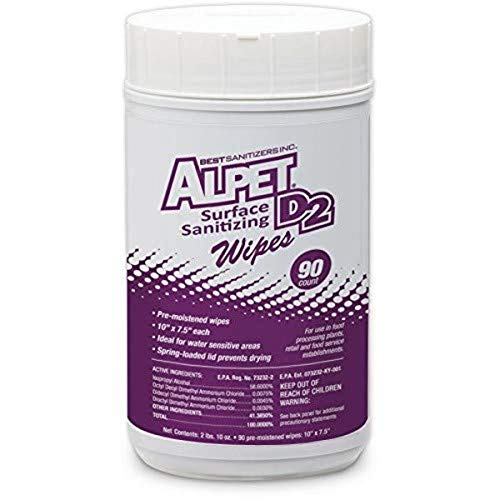 Best Sanitizer SSW0001 Alpet D2 Surface Sanitizing (Each)