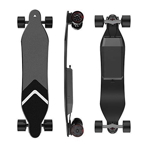 DYecHenG Skateboard Max 4 Vier-Rad-Antrieb Zwei Elektro-Skateboard Verwendet LG 4.4a Imported Batterie IP65 spritzwassergeschützt für Erwachsene Anfänger (Size : One Size)