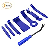 GOOACC 8PCS Auto Trim Removal Tool Kit No-Scratch Pry Tool Kit for Car Audio Dash Door Panel Window Molding Fastener Remover Tool Kit-Blue