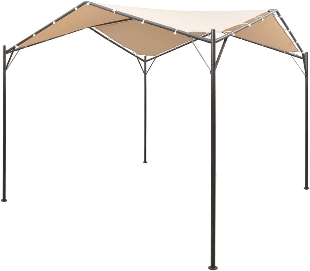 OUSEE Gazebo Pavilion Tent Canopy x13' Popular brand in the world Beige Steel 13' 1