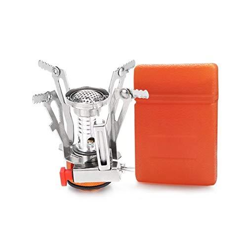 SZTUCCE Portátil Plegable Estufa al Aire Libre Quemador de Gas de Aluminio aleación de Aluminio Estufa para Senderismo Picnic BBQ Estufa de Gas Estufa de Tanques Finales de Horno (Color : A)