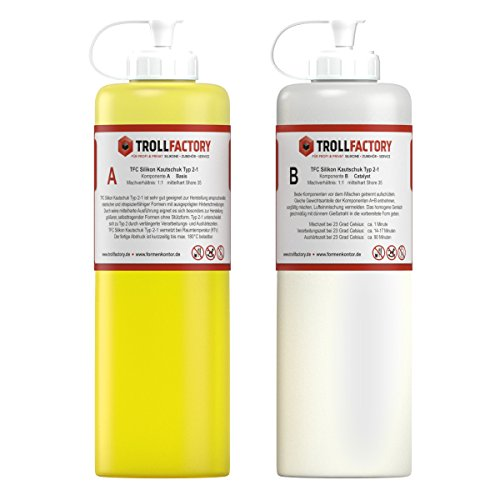 TFC Silikon Kautschuk Typ 2-1 I Dubliersilikon dünnflüssig I mittelhart, 1 kg (2 x 500 g)