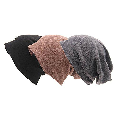 Ever Fairy Chemotherapie Krebs Baumwolle Kopf Schal Hut Kappe ethnisch Stoff Aufdruck Turban Kopfbedeckung Damen Stretch Blume Muslime Kopftuch(3 Farben Packung)