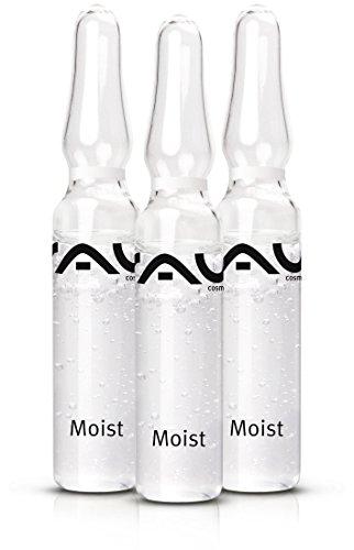 RAU Moist Ampullen 3 Stück x 2 ml – Anti-Aging, Effektiver Feuchtigkeitsbooster mit Hyaluronsäure