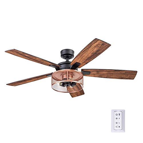 Honeywell Ceiling Fans 51459-01 Carnegie Ceiling Fan, 52, Matte Black