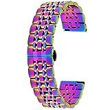Kai Tian Cinturino per orologio da polso in acciaio inox, 20 mm, 22 mm, spazzolato, lucido, per uomini e donne, rapida pubblicazione e Acciaio inossidabile, colore: multicolore, cod. KT7GMTCOL2022