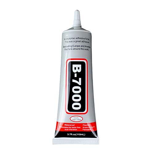 B-7000 Pegamento 110 ML transparente para reparaciones de Pantalla de Smartphone, Tablet y arreglos de zapatos, bisutería, encuadernación de libros