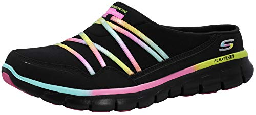 Skechers Sport Women's Air Streamer Black/Multi/Black Slip-On Mule 9.5 M US