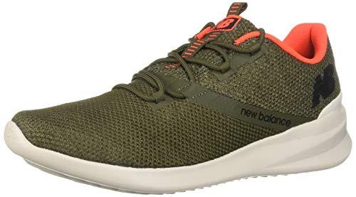 New Balance Men's District Run V1 Cush + Sneaker, serpent green, 9 X-Wide US