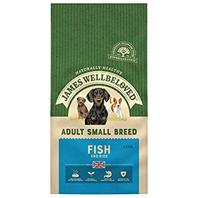 James Wellbeloved Complete Dry Adult Small Breed Dog Food Fish and Rice, 1.5 kg