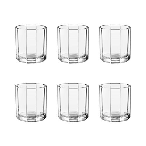 TREO Glass Octron Glasses - Set of 6, Transparent, 290ml