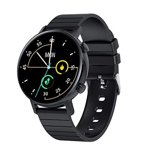 FMSBSC Smartwatch für Damen Herren,1.3 Zoll HD Farbdisplay Fitnessuhr Smart Watch mit 7 Trainingsmodi, Fitness Tracker mit Pulsmesser Blutdruckmessung Schlafmonitor, Intelligente Uhren Sport,Schwarz