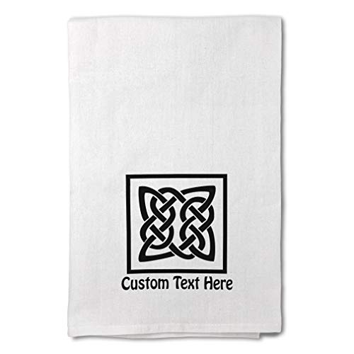 Style In Print Custom Decor Flour Kitchen Towels Celtic Knot B Typography & Symbols Art Typography & Symbols Typography Art Cleaning Supplies Dish Towels Personalized Text Here