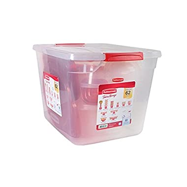 Rubbermaid TakeAlongs Containter Variety Pack with Lids - 62 Pieces