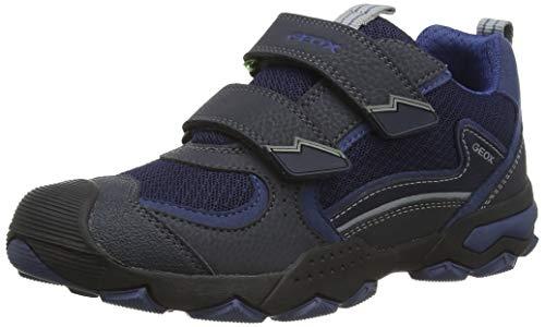 Geox J Buller Boy B, Zapatillas para Niños, Azul (Navy/Grey C0661), 37 EU
