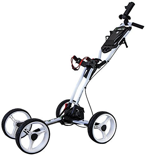 EasyPal Total Automatic Folding Golf Push Cart by Golferpal (Please See YouTube Video for More Detail of This Amazing Design) (White)