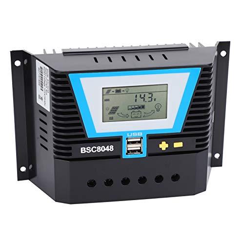 Controlador Solar de Control de Carga 80A 12V / 24V / 36V / 48V fuerte y duradero BSC8048 80A Controlador Solar