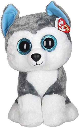 TY TY37069 Slush Husky Large Boo 40cm, Multicolored, 41 cm
