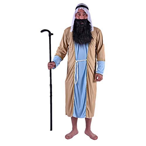 Disfraz de guerrero masculino adulto de baile de Halloween, traje de caf, traje de manga larga, disfraz de Halloween, traje de Cosplay