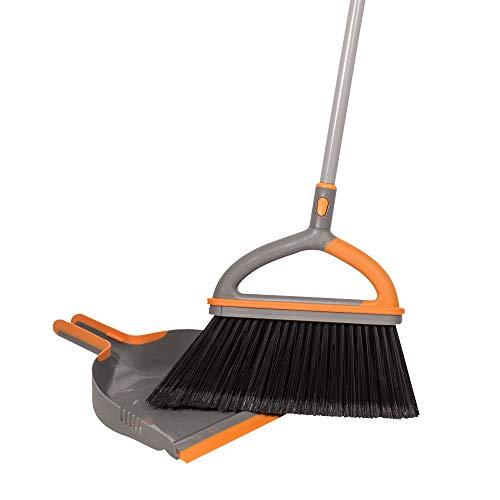Casabella Ergo Broom Plus with Dustpan, Orange
