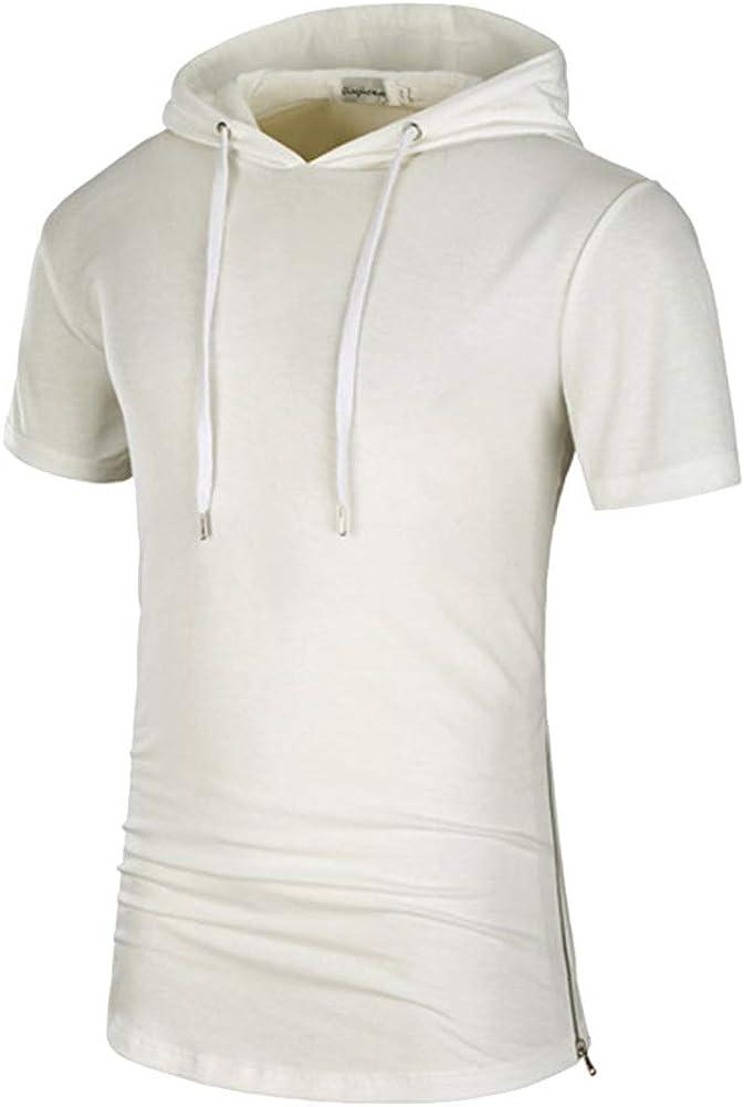 Rela Bota Men's Casual Short Sleeve Hoodie - Fashion Henley Shirts Lightweight Jersey Camouflage Sweatshirts
