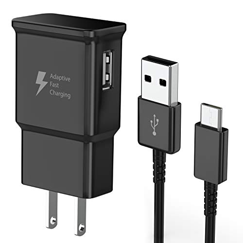 TT&C Adaptive Fast Charger kit with USB Type C Cable Compatible with Samsung Galaxy S20/ S8/S8 Plus/ S9/ S9+/ S10/ S10 Plus/Note 8/ Note 9/ Note 10 (Black)
