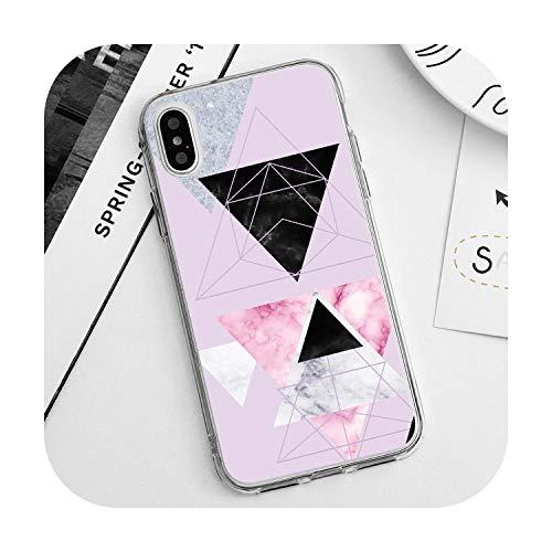 Funda de mármol para iPhone 8 Plus para iPhone XS Max XR X 8 7 6 6S Plus 5 5S SE 5C 4 para iPhone 11 Pro Max Case Soft TPU-Dlszshui-for iPhone XS