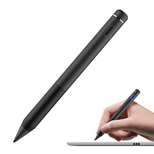 MoKo Penna Capacitiva Attiva, Punta Fine & Sensibile 1.5mm Active Stylus Stilo Universale, per Dispositivi Schermi Touch, iOS Android Windows, iPad, iPhone, Samsung, ECC, Nero