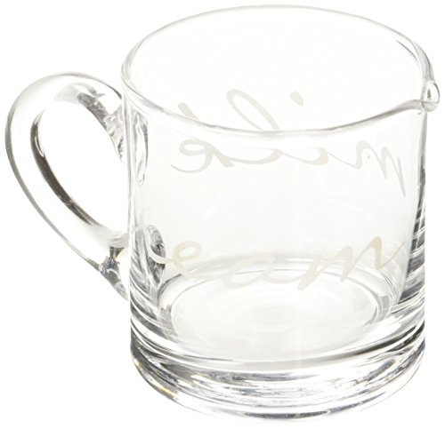 Abbot Collection Etched Glass Script Creamer