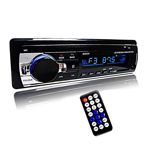 ALLWIN Autoradio Coche Radio Estéreo Player Digital Bluetooth Coche Reproductor De MP3 60WX4 FM Radio Estéreo Audio Música USB/SD con IN PASH AUX Input
