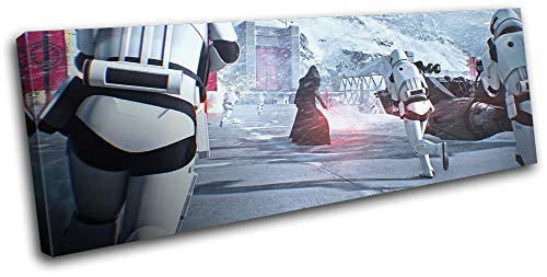 Bold Bloc Design - Star Wars Battlefront 2 Kylo Ren Gaming 135x45cm Single Canvas Art Print Box Framed Picture Wall Hanging - Hand Made in The UK - Framed and Ready to Hang RC-2425(00B)-SG31-LO-C