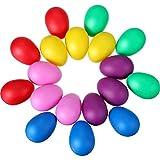 18 Pezzi Uova di Pasqua Colorate Maracas Uova di Plastica Uovo Shaker Set Maracas Uova Shaker per Pasqua Festa Borsa Riempitivi Festa Favori Giocattoli Musicali, 6 Colori