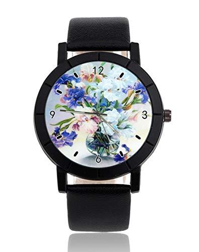 Reloj de pulsera personalizado con flor en botella en el agua, informal,...