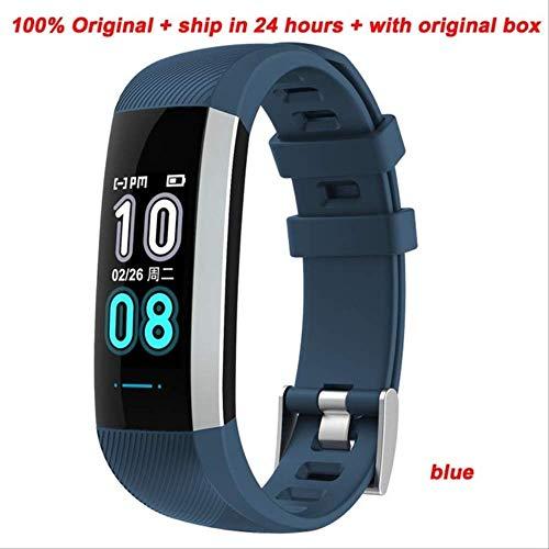LLOOMMB Intelligentes Armband Smart Armband Fitness Tracker Pulsmesser Smart Band Bluetooth Musik Stoppuhr Armbandblau