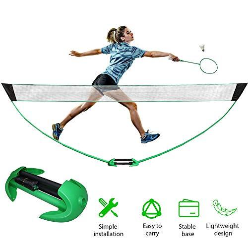 Suppemie Badminton Netzgestell Faltbares Mobiles Badmintonnetz Klappbares Volleyballnetz Badminton Netz Tennisnetz Mit Koffer Für Innen- Und Außenparks, Strände Und Strände