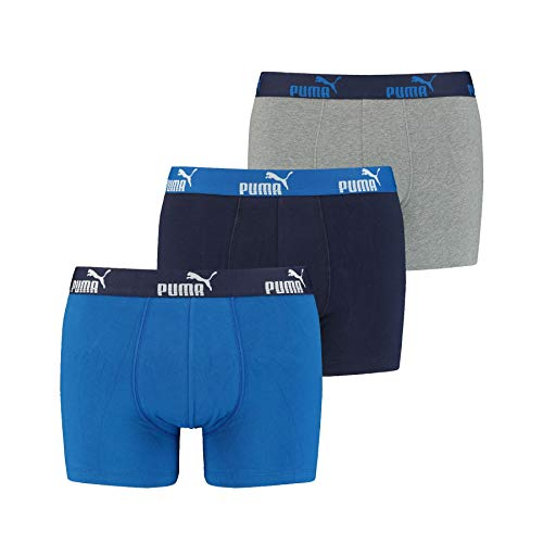 PUMA 6 er Pack Boxer Boxershorts Herren Unterwäsche sportliche Retro Pants (Blue-001, M)