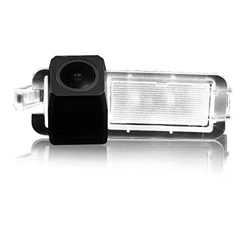 Dynavsal HD CCD Caméra de Recul Voiture en Couleur Kit Caméra vue arrière de voiture Imperméable IP67 avec large Vision Nocturne pour 2017 Jeep Compass