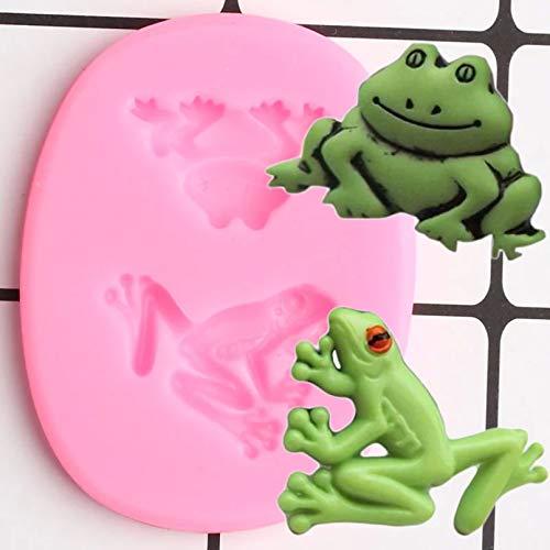 LNOFG 3D Frosch Silikonform Tier Schokoladenform Kuchen Kuchen Fudge Form DIY Kuchen Dekoration Werkzeug Candy Polymer Clay Form