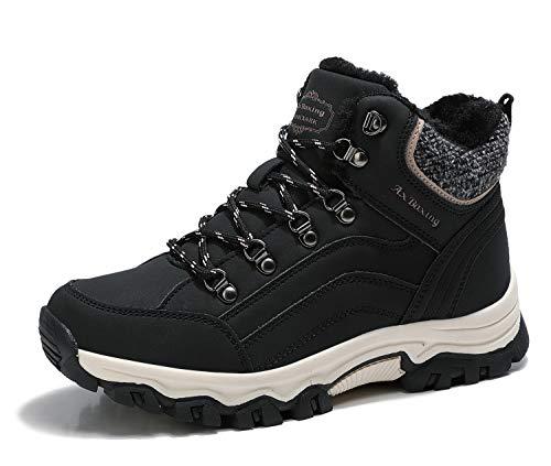 ARRIGO BELLO Botas Mujer Botines Zapatos Invierno Cálido Fur Forro Aire Libre Urbano Fiesta Oficina Caminando Senderismo 36-41 (Negro, Numeric_38) (Ropa)