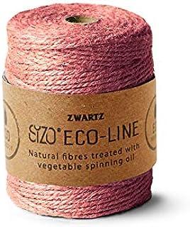 Sizo 150m Jute-Schnur Kordel Natur und unterschiedliche Farben - 3mm Dick Rosa