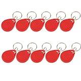 Fenteer Etiquetas De Token De Tarjeta De Identificación De Acceso De Probador De Llaveros De Proximidad 125khz, 10pack / Set - Rojo