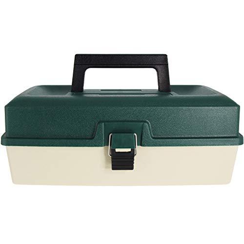 Caja de Pesca con 3 bandejas voladizas para Almacenamiento de Aparejos de Pesca (Verde)