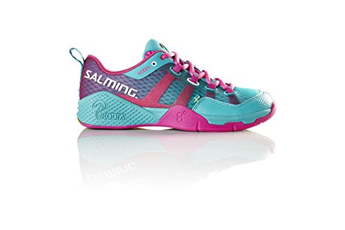 Salming Womenâ€s Kobra Indoor Squash Shoes, Turquoise, UK7