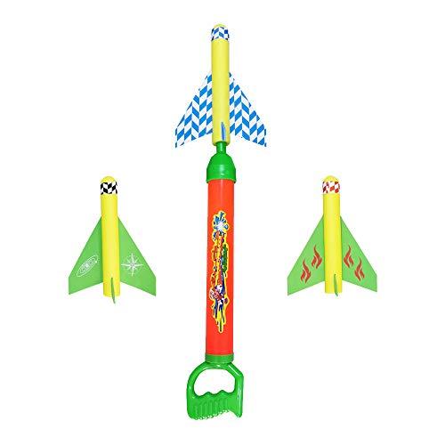 ALEENFOON 2 in 1 Flugzeuge Wasserpistole Spielzeug für Kinder Druckluftrakete Schaum Flugzeug Spielzeug für Draussen ab 6-12 Jahre Wasserspielzeug Wasserblaster mit Großer Reichweite