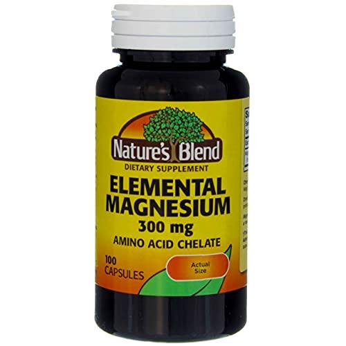 Nature's Blend Elemental Magnesium Amino Acid Chelate 300 mg, 100...