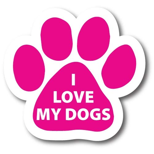 Magnet Me Up I Love My Dogs Pawprint Car Magnet Paw Print Auto Truck Decal Magnet