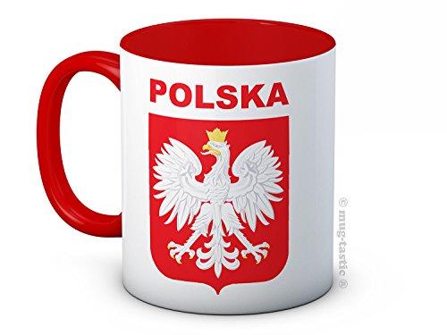 Polska Poland – Fußball Sport - Keramik Kaffeetasse Becher