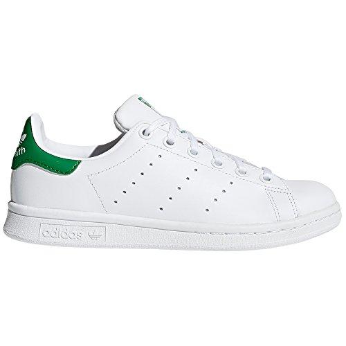 adidas Stan Smith para Mujer, Zapatillas Blancas, Deportivas de Moda, Sneaker Tenis.g (36 EU, FTWR Blanc - Noyau Blanc - Vert)