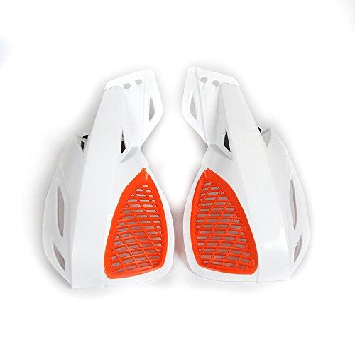 Moto Universelle 7/8 Pouces et 1 1/8 Pouces Protège-Mains en Plastique Moto Protège-Mains - Blanc